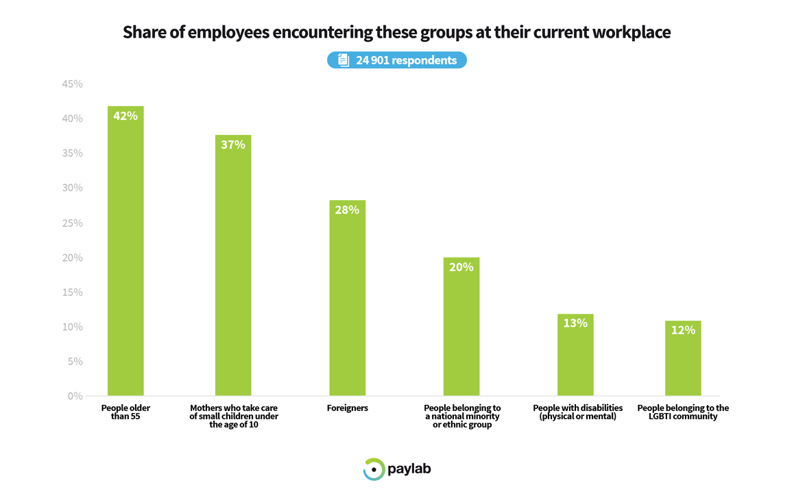Paylab Diversity study 2019 employee experience in the workplace
